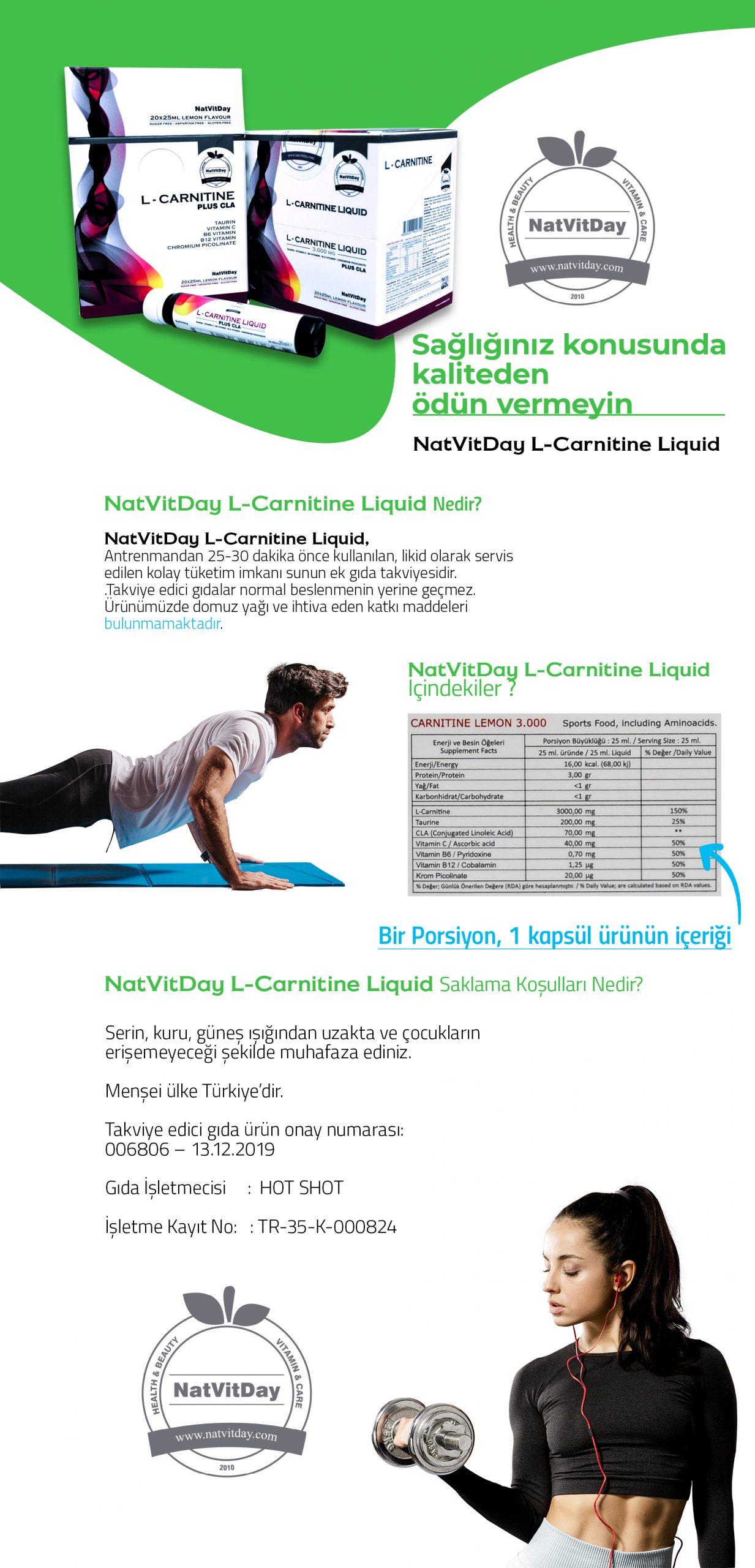 NatVitDay l-carnitine Sıvı